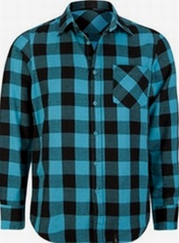 Straight Faded Buffalo Flannel Shirt